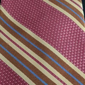 Ike Behar 100% Silk Tie Hand Tailored In USA Never